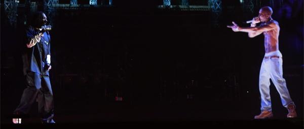 Holograma simula apresentação de Tupac no Coachella
