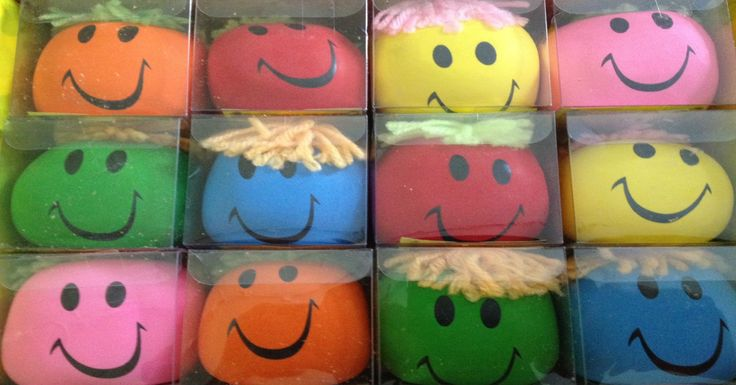 Stress balls all lined up ready for exam time.