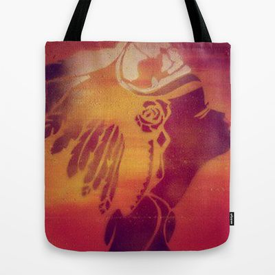 Spray paint headdress  Tote Bag by Footeprints - $22.00