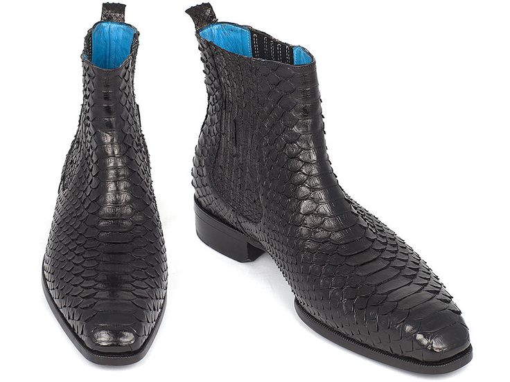 Mens Chelsea Boots Black Phyton - PRO Quality