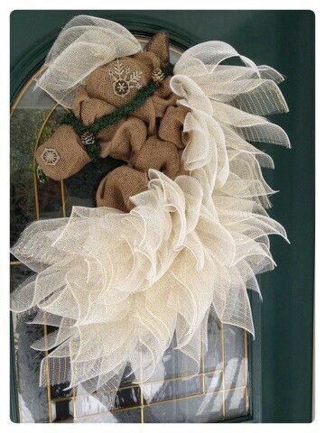 Christmas Burlap and Deco Mesh Horse Wreath Find us on Facebook A Noble Touch, and Shop us on Etsy! https://www.etsy.com/listing/291330445/made-to-order-horse-head-wreathsdoor