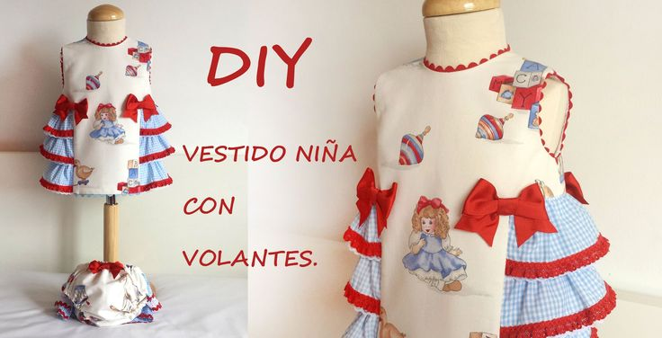 Como hacer un vestido de niña con volantes. Do it yourself.