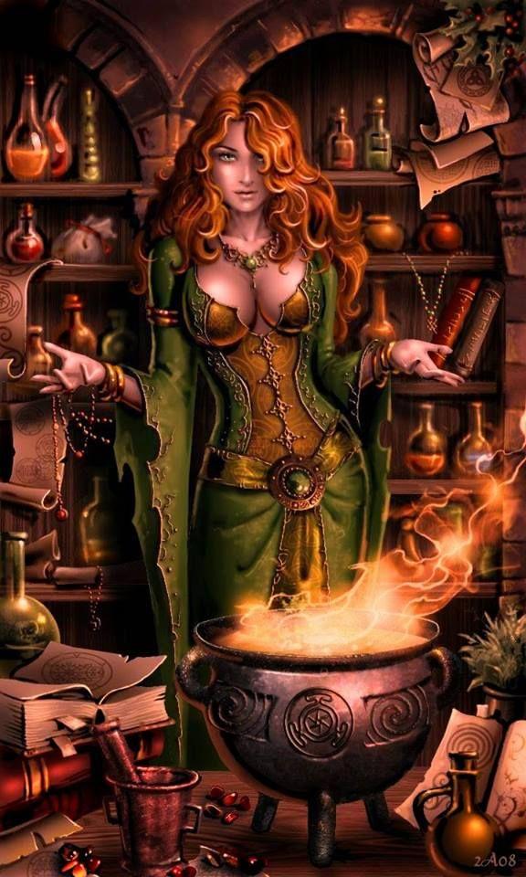 *Poção contra negatividade. Sexy witch