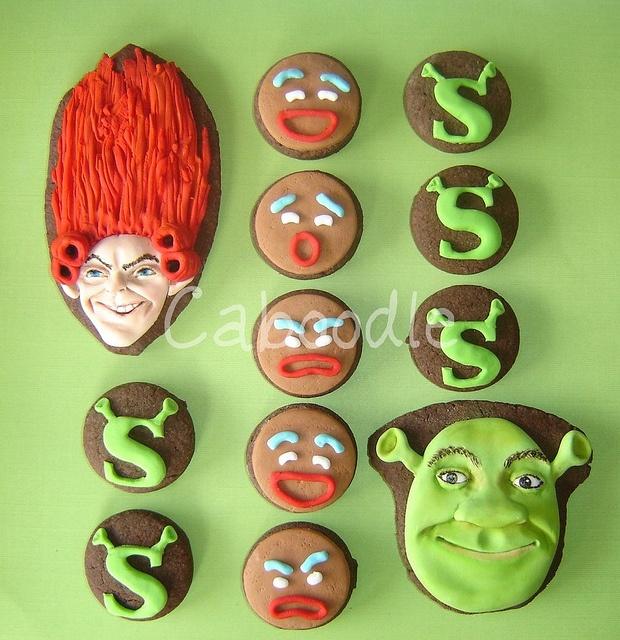 shrek cookies