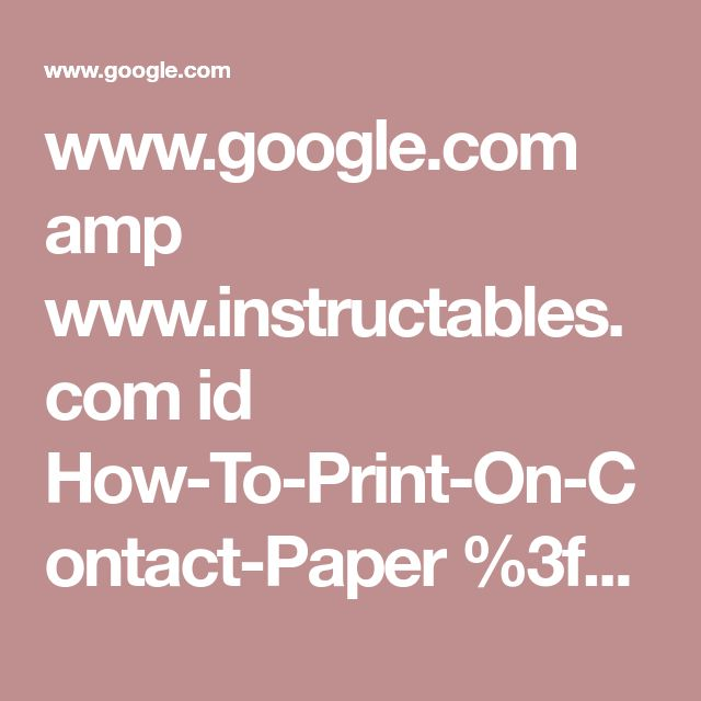 Www.google.com Amp Www.instructables.com Id How-To-Print