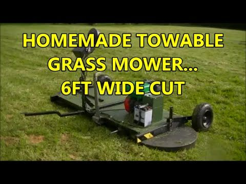 HOMEMADE TOWABLE GRASS MOWING MACHINE (Also homemade ride on hedge cutter on this channel)