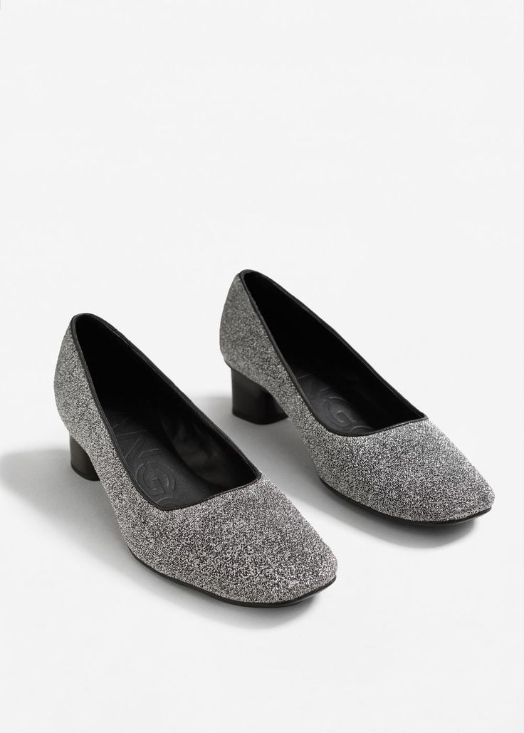 Туфли с блестками   MANGO МАНГО