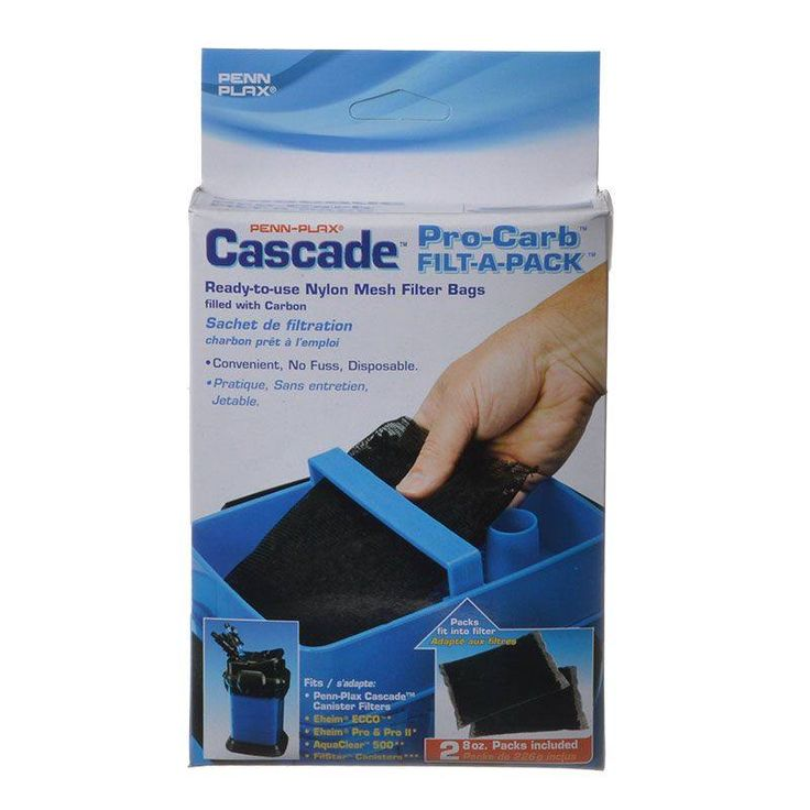 Penn-Plax Cascade Pro-Carb Filt-A-Pack are convenient, ready-to-use filter bags for use with your Cascade cannister filter. Contains Pro-Carb laboratory quality activated carbon. Filter media fully enclosed in a disposable nylon-mesh bag.