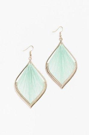 Large threaded earrings