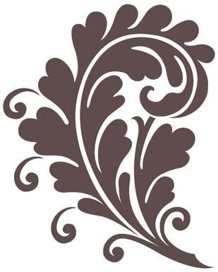 Large Swirl Stencils | Magenta - Cling Rubber Stamp - Large Rococo Swirl
