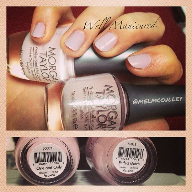 Have you tried #NailHarmony 's  newly launched nail lacquer line #MorganTaylor? #Beautiful colors. I combined these two for the #perfect #natural #onset nail, #OneandOnly  #wellmanicured #nailart #nailartist #nails #gelish #manhattanbeach #la #melaniemcculley
