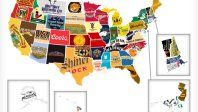 Red, White, And Booze, A Map of Famous Liquor & Beer Brands From Each State
