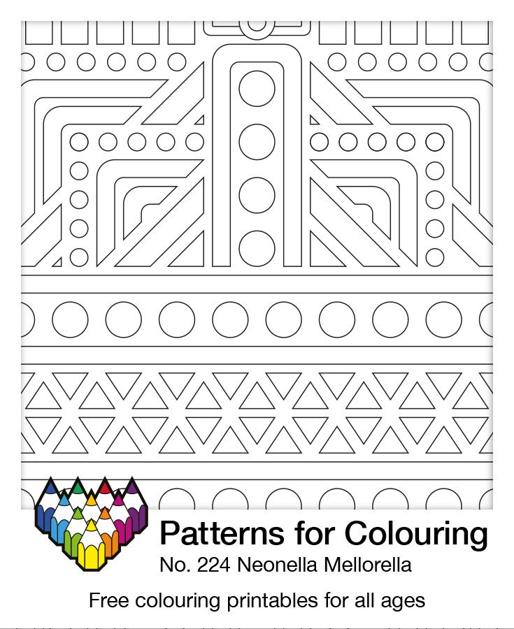 Neonella Mellorella is the newest colouring pattern added to our library. Colouring page number 224. Happy colouring! Click through for the PDF