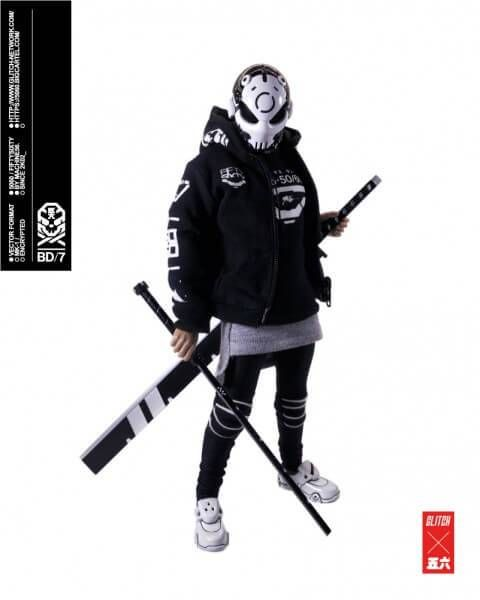 BONEHEAD Black Death By Machine56 x GLITCH Network pose