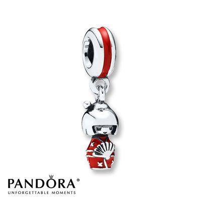 Pandora Dangle Charm Japanese Doll Sterling Silver