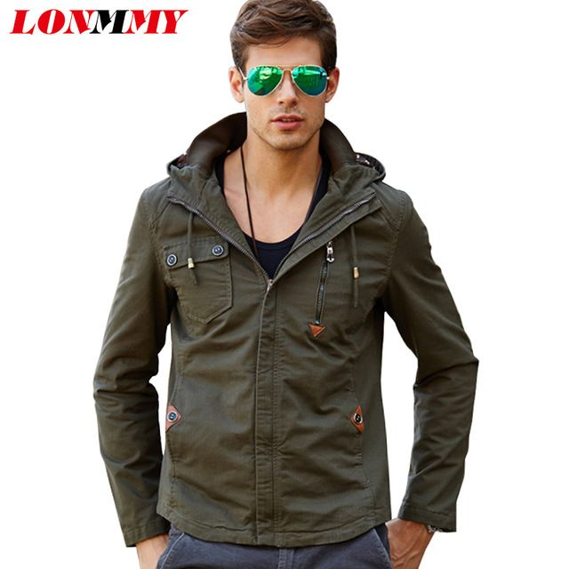 Promotion price LONMMY Hooded jacket men Cotton jaquetas bomber Hoodies military jacket men Brand clothing Casual 2017 Mens jackets and coats just only $39.32 with free shipping worldwide  #jacketscoatsformen Plese click on picture to see our special price for you