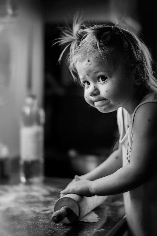 Когда главное - эмоции;)) Черно-белые детские фотографии