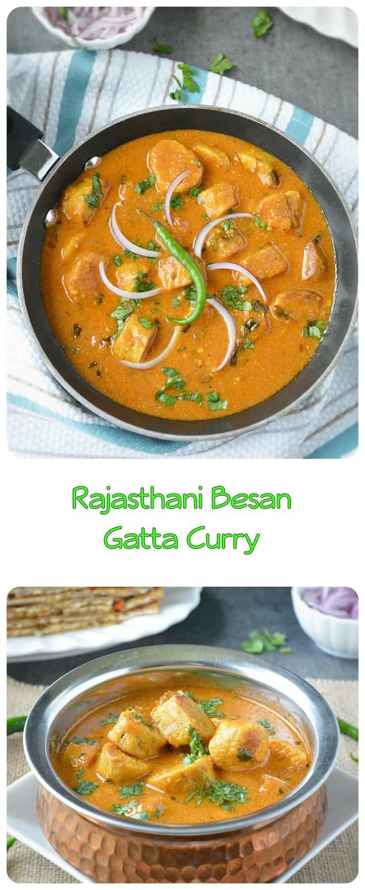 ‪#‎Meatless‬ ‪#‎Monday‬ - #noonionnogarlic #Gatte ki #sabzi also referred to as #Besangatta #curry. A #specialty of #Rajasthani #Cuisine and no Rajasthani thali is complete without this dish. ‪#indiancooking #indiancuisine #indianfood #recipes ‪#cooking #ilovecooking #dinner #maincourse