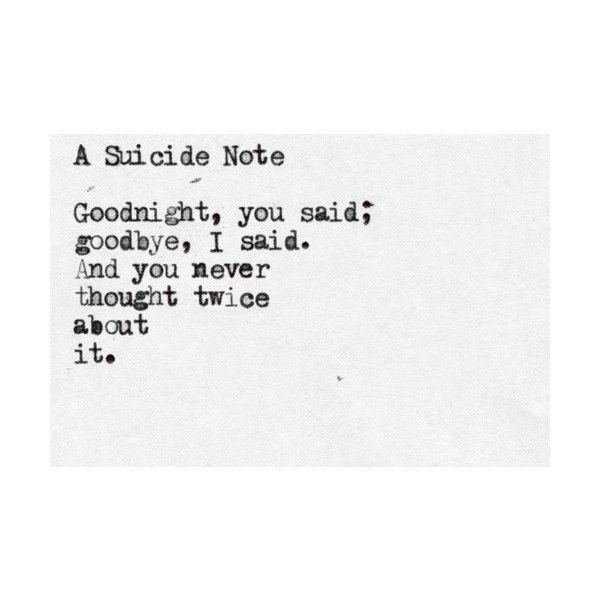 Emo Suicide Notes