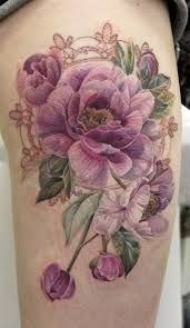 Image result for watercolor female leg tattoo