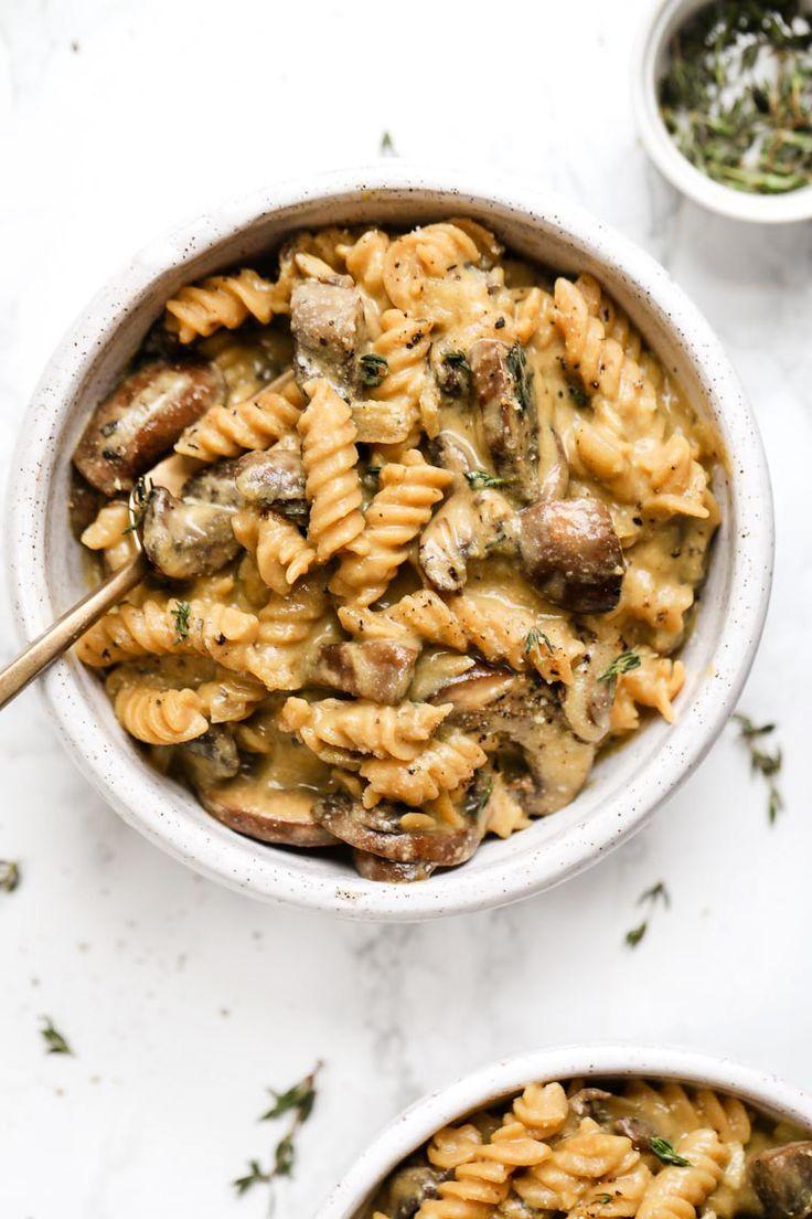 Easy Vegan Mushroom Stroganoff Recipe Vegan Mushroom