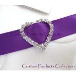 12 Heart 5/8″ Rhinestone Ribbon Buckles for Wedding Invation Card