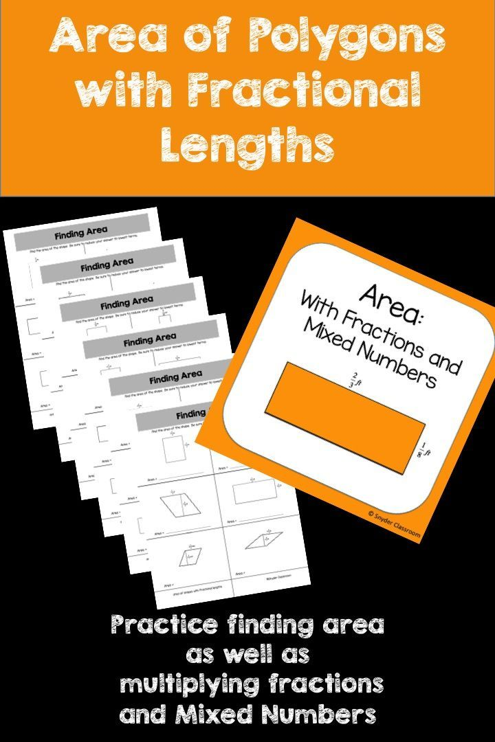 Looking for an activity that combines Area and Fractions?   This activity is full of computation practice. The students combine the skills of finding the area of parallelograms, rectangles and squares as well as the skill of multiplying fractions and mixed numbers. The Pack includes 6 different worksheets pages * 3 worksheets finding area with fractions * 3 worksheets finding area with mixed numbers