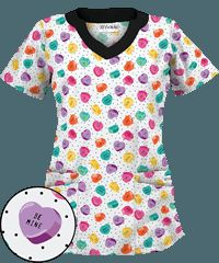 UA+Candy+Hearts+White+Print+Scrub+Top