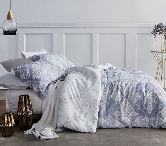Alberobella - Silver Gray Twin XL Comforter Set Dorm Bedding Must Have Dorm Items
