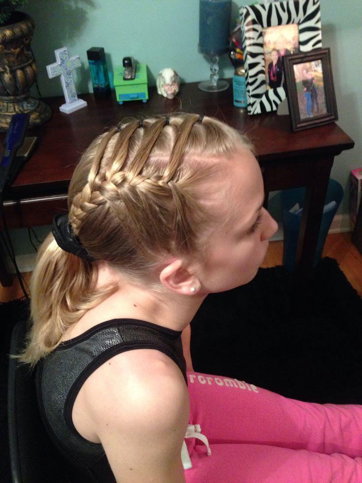easy gymnastics meet hairstyles for long hair