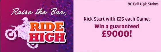 Ride High this april win ample #cash prizes at @gonebingo