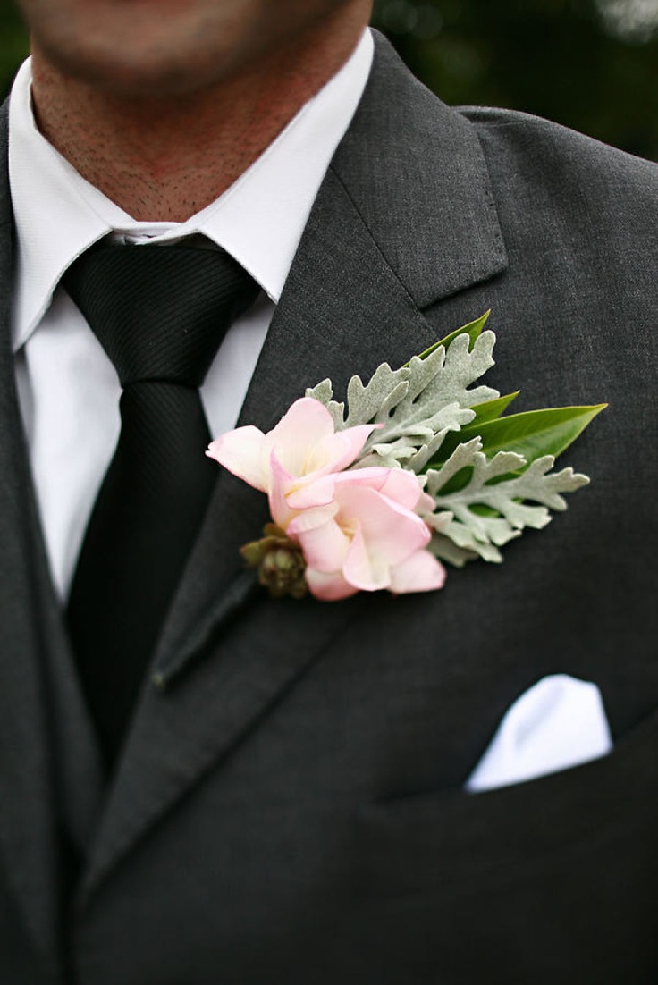 Charcoal Grey Suit w/Black Tie