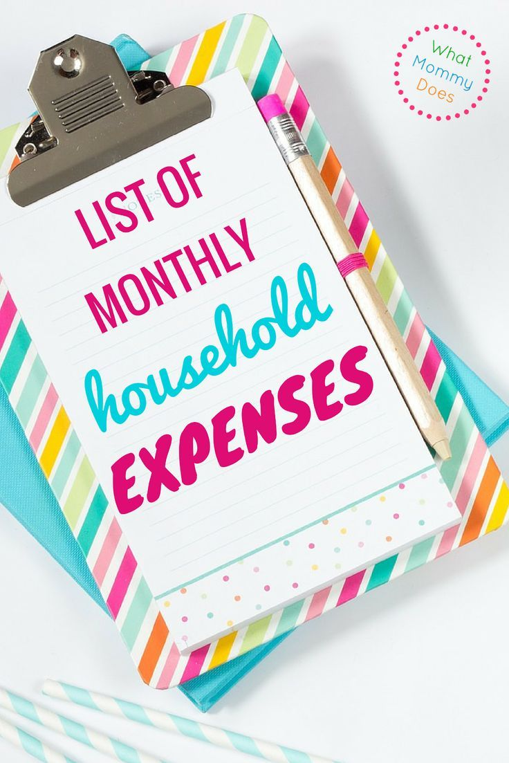 Fix My Car >> List of Monthly Household Expenses {Perfect for Family Budgets!} | Household expenses, Family ...