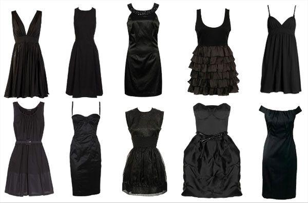 Um vestido preto é indispensável no guarda roupa.