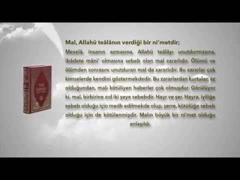 MAL, ALLAHÜ TEALANIN VERDİĞİ Nİ'METTİR1