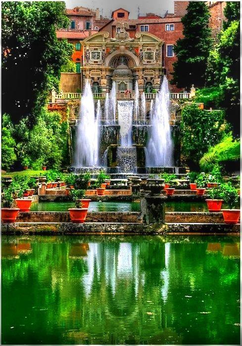 Tivoli Gardens Near Rome Italy Amazing World