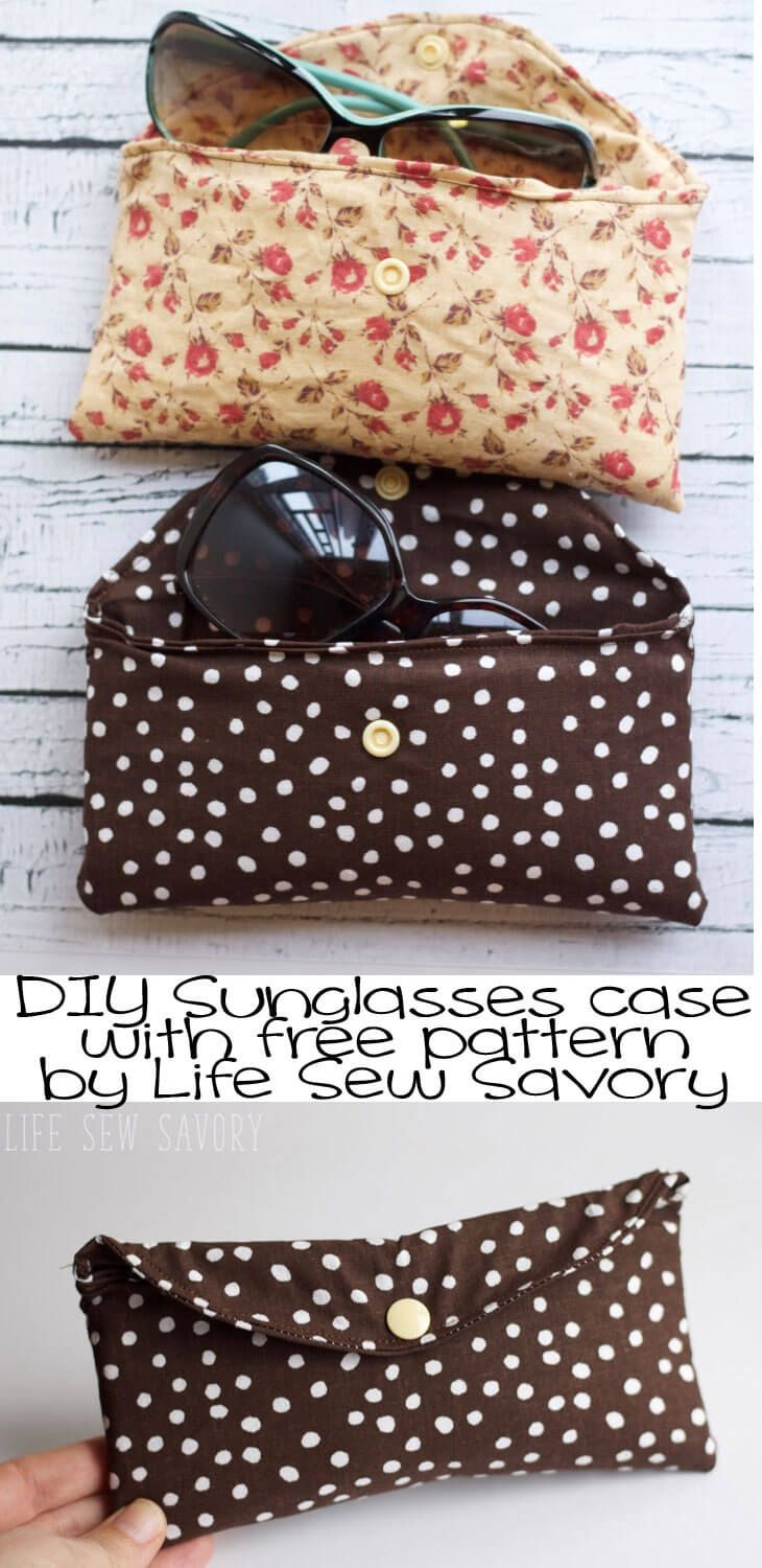 glasses case with free pattern from Life-Sew-Savory