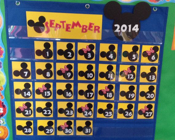 Disney Calendar and Weather Chart Cards Mickey by MsKarensKrafts