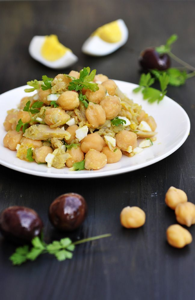 Anja's Food 4 Thought: Portuguese Chickpea and Cod Salad