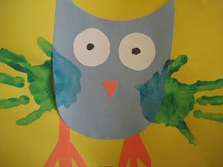 cute owl craft: Hands Prints, Preschool Parties, Owl Handprint, Crafts Preschool Art, Owl Crafts, Handprint Owl, Cute Owl, Crafts Preschoolart, Schools Crafts