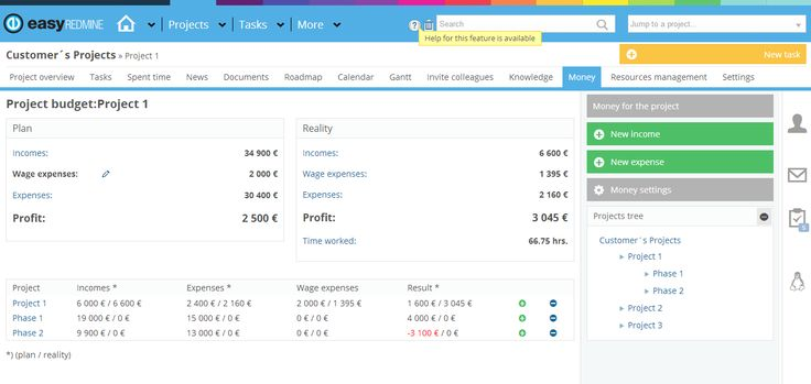 Easy Redmine - Project Budgets Money Plugin http://www.easyredmine.com/