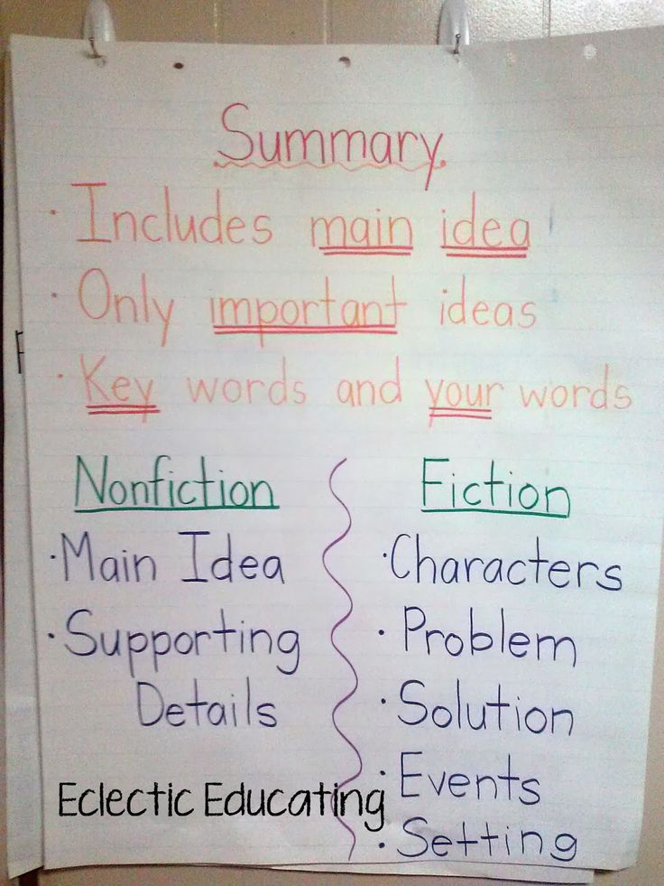 Summarizing, Summarizing, and MORE Summarizing! - Eclectic Educating