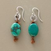 Love these!: Wire Earrings, Silver, Turquoi Jewelry, Turquoise Jewelry, Handmade Earrings, Leather, Handmade Jewelry