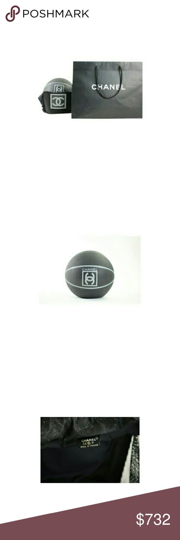 """Chanel  ( ULTRA RARE ) CC Sports Basketball 214142 Previously owned.  Date/style Code: 04-P  Made In: France.Gently Used  SIZE:9.5""""L x 9.5""""H x 9.5""""W  OVERALL EXCELLENT CONDITION   Signs of Wear: Ball needs to be inflated. Slight marks from display, never used to actually play. Carrying case is a bit peeling form age. Shopping bag included as well.  This item does not come with any extra accessories.  Color appearance may vary depending on your monitor settings.  SKU:214142 CHANEL Accessories"""
