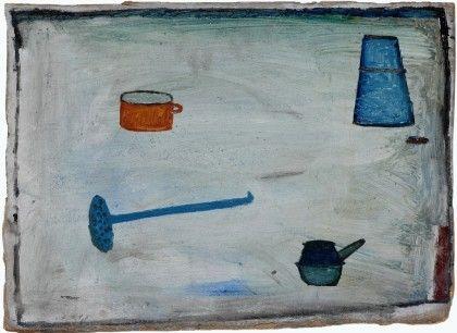 Jerzy Nowosielski, Martwa natura, olej, tektura, 36 x 50 cm, 1947