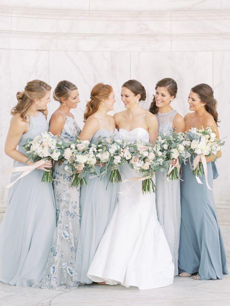 Periwinkle Light Blue Mismatched Bridesmaids Dresses Light Blue Bridesmaid Dresses Mismatched Bridesmaid Dresses Blue Dusty Blue Bridesmaid Dresses
