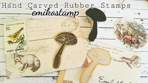 SALE Mushroom rubber stampunmounted rubber stampwoodland