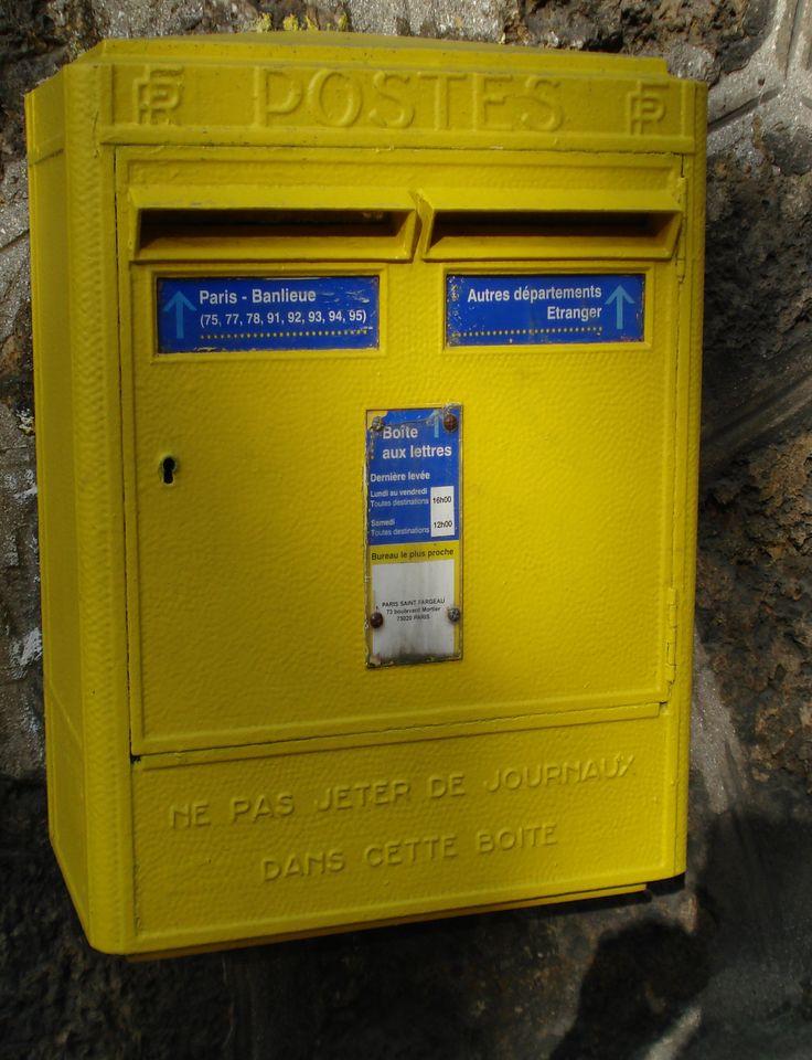 boîte aux lettres dans Paris. http://visite-guidee-paris.fr