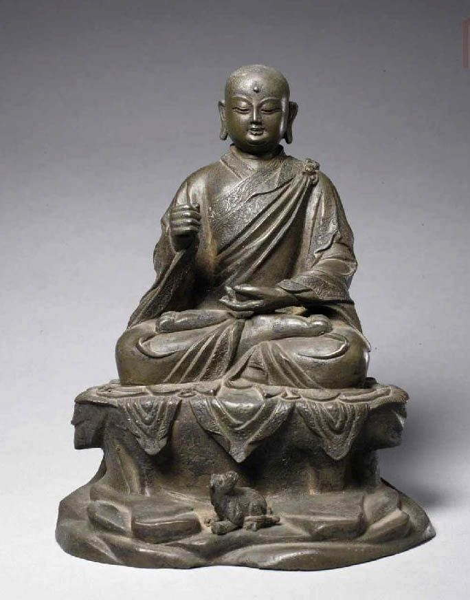 北京故宮博物院-明正統九年(1444年)高義造-地藏菩薩銅像