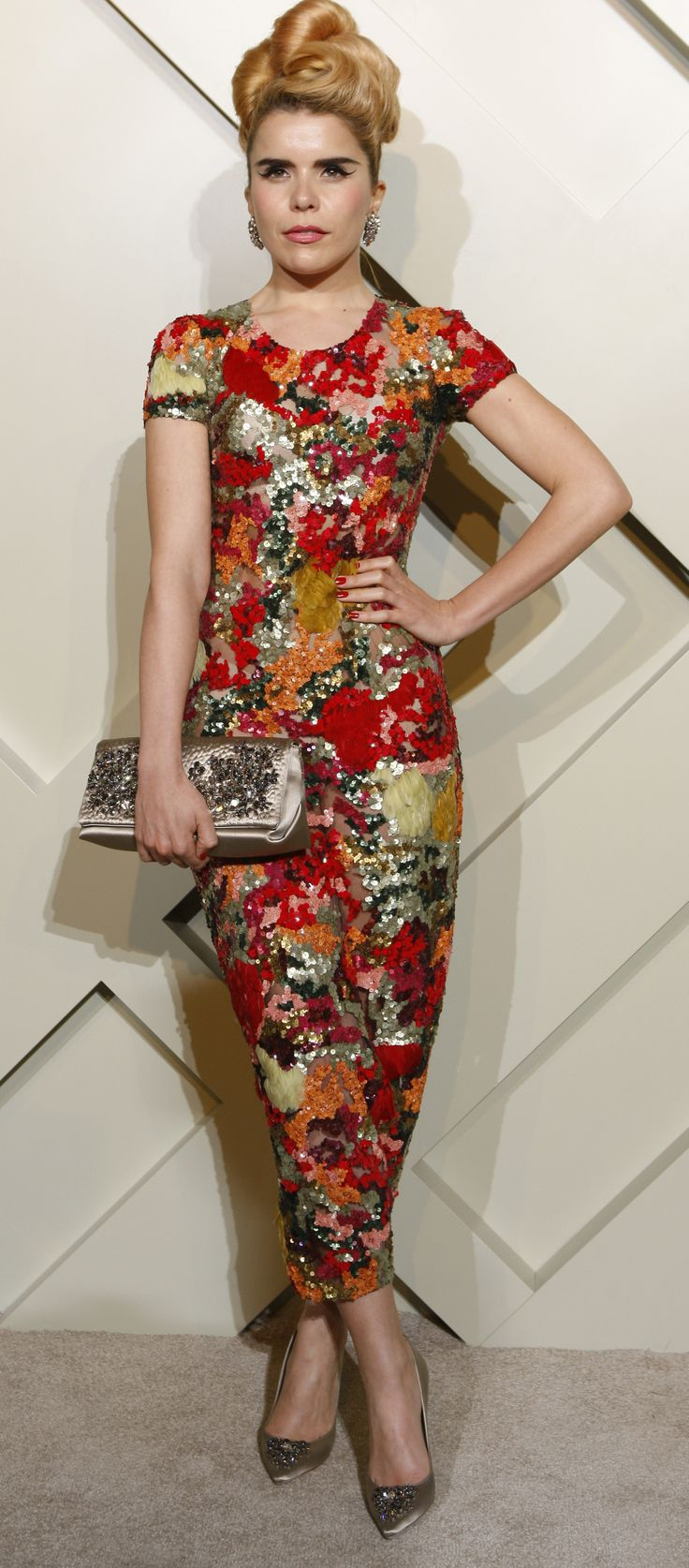 British musician Paloma Faith wearing Burberry to attend the Burberry celebrations in Shanghai on Thursday
